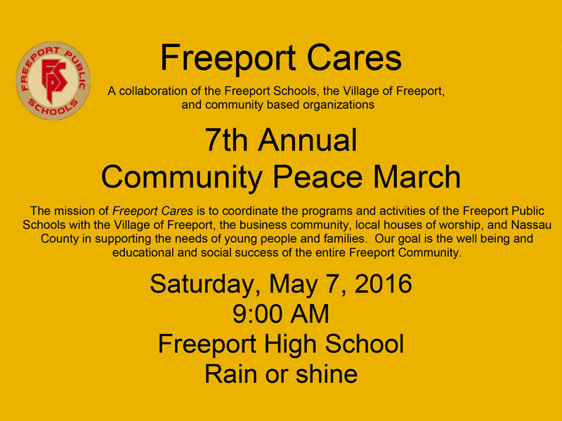 Seventh Annual Freeport Cares Community Peace March