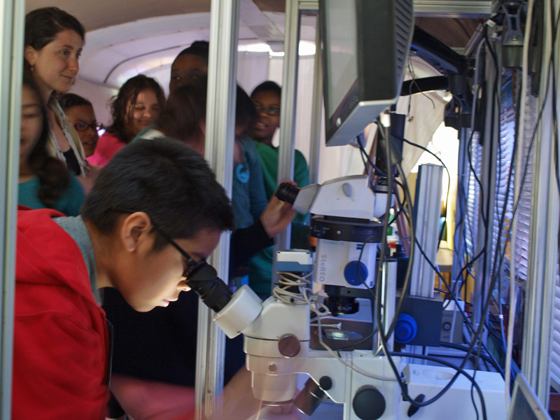 "Students Study Advanced Science on the BioBus  <span class=""small"">(more)</span>"