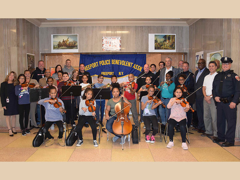 Toys for Freeport Tots Donates Instruments to Atkinson