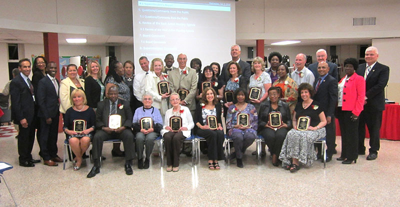 BOE Honors District Retirees
