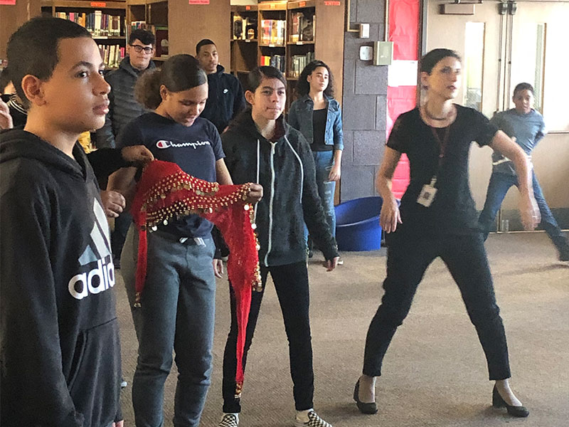 Students Learn The Flamenco