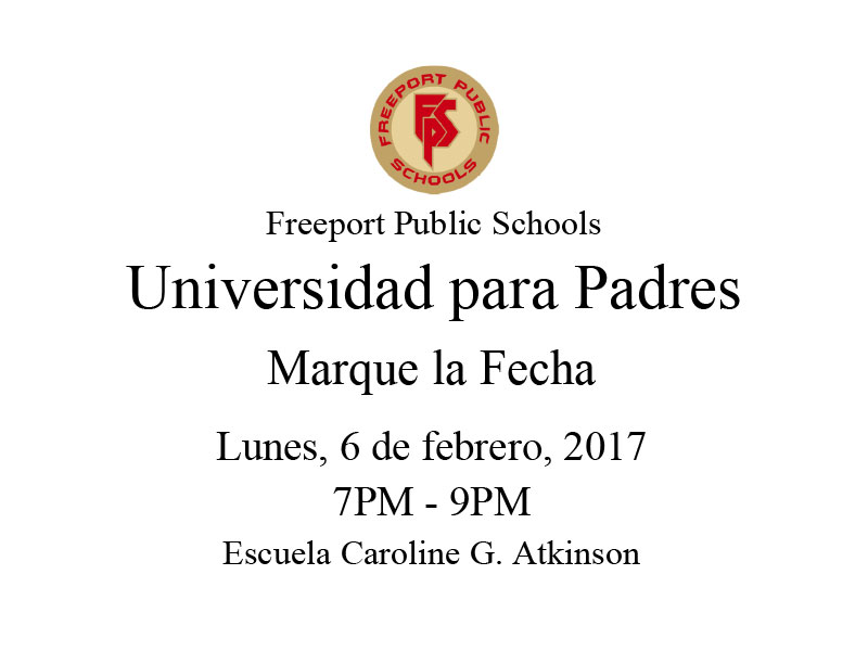 Upcoming  Parent University - Spanish flyer