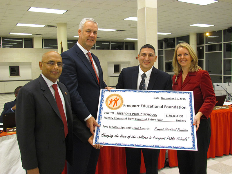 Board of Education Accepts Donation from Freeport Educational Foundation