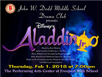 Middle School Presents Disney's Aladdin Jr on February 1st photo
