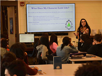 Dodd Hosts Author for Writing Workshop photo
