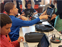 District Rolls Out Chromebook Initiative at Dodd photo