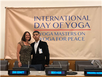 FHS Student Shares Power of Yoga at United Nations photo
