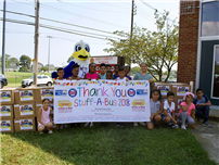 Stuff-A-Bus equips students for new year photo