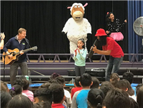 Perry The Sheep Visits District Elementary Students photo